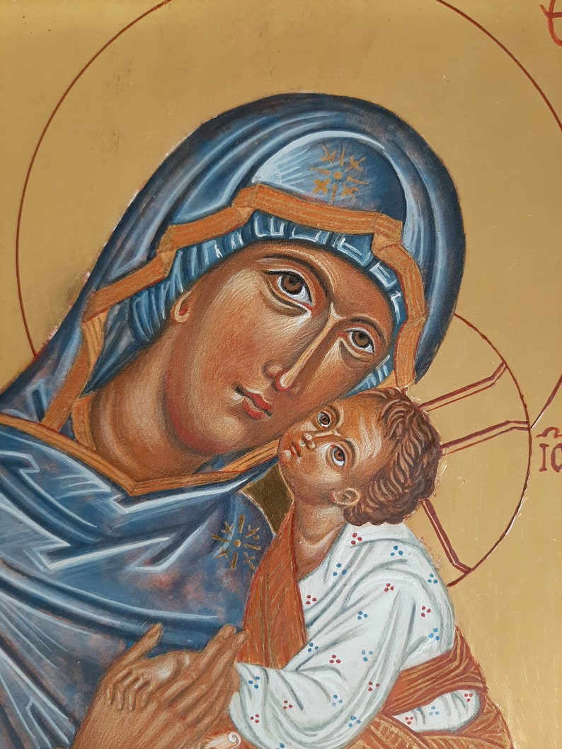 Our Lady of Mount Carmel and Christ Child handmade original image 1