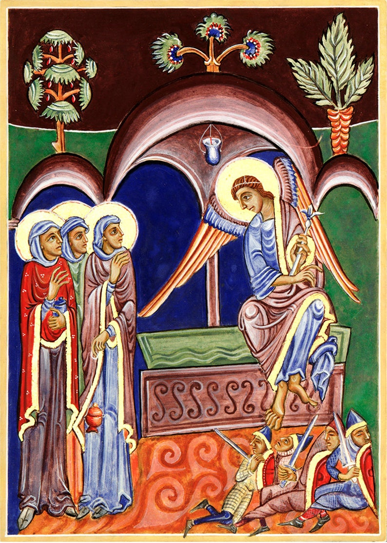 Three Maries at the Tomb of Christ original icon painted in image 0