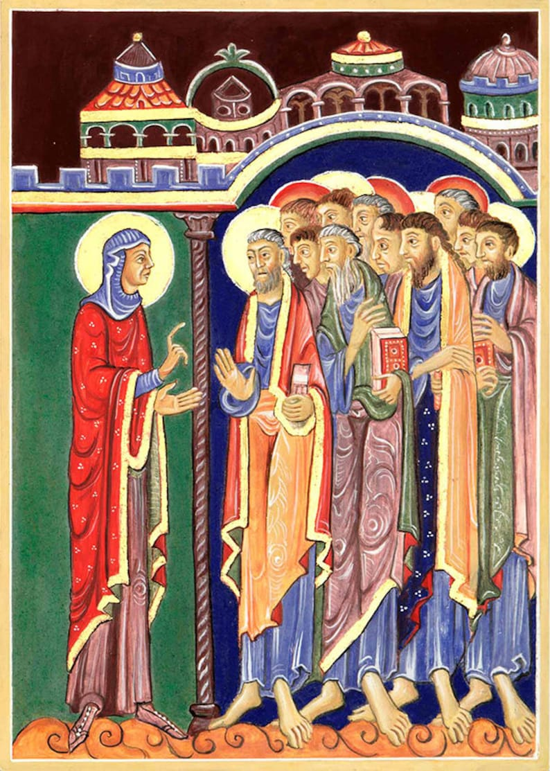 Mary Magdalene announces Resurrection of Christ to Disciples image 0