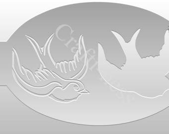 Crafti-Ness #204 Animals Swallow Stencil