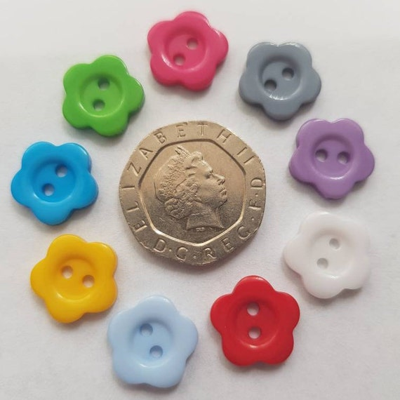 Pack of 50 Round Resin 12mm Mixed Colour 2 hole Buttons RB15