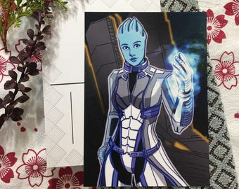 Mass Effect Liara T'Soni mini print postcard