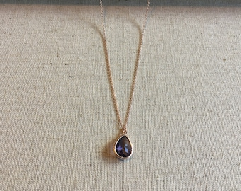 Amethyst Rose Gold Necklace