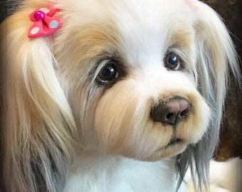 a1ce9f712b68 Realistic Stuffed Dog, Lhasa Apso, Photo Portrait Pet Replica, Soft  Sculpture, Made to order