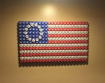 DIY American Flag Bottle Cap Printable