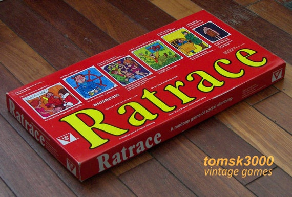 1973 Ratrace 'Red Box' edition Vintage British Board Game by HPG