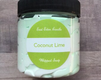 Whipped soap, Coconut soap, Coconut whipped soap, Coconut lime soap, Tropical soap, Fluffy bath soap, Coconut lime whipped soap, Lime Soap