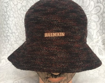 Vintage luxury bailmain paris pierre balmain hat 65a9df86515