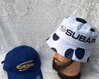 Combo deal subaru caps bucket hat vintage a686325407b