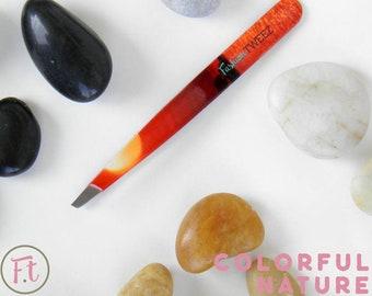 Personalized design slanted tip tweezers Custom made of | Etsy