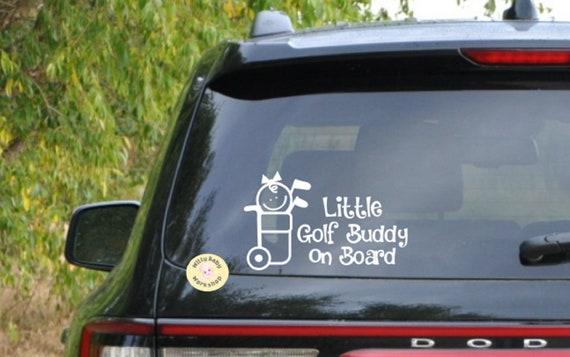 Truck Vw SUV Baby on Board Decal for Car Jeep Window Van Little Golfer On Board