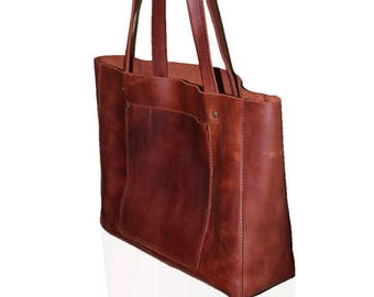 Large leather tote  f061b1d692411