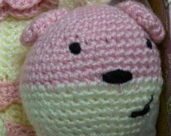 Crochet Floppy Bear Rattle