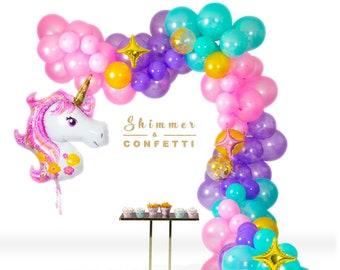 Unicorn Balloon Garland Kit Party Decorations Birthday