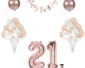 21st Birthday Balloon Set