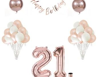 21st Birthday Balloon Set