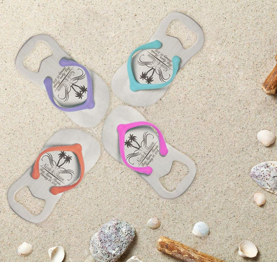 25 Personalized Engraved Flip-Flop Bottle Openers | Personalized ...