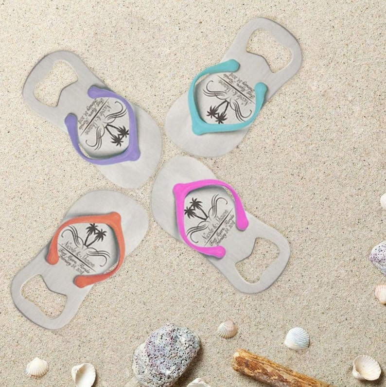 1d4173bf463fb6 10 Personalized Engraved Flip-Flop Bottle Openers