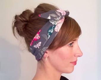 Tie Detail Headband, Bow Detail Headband, Retro Headband, Floral Scarf Tie Headband, Bandana style headband, Pin up style headband