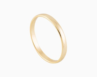 Band Ring - Simple gold Ring - Dainty Ring - Gold stacking ring - Gold Band Ring - Delicate Ring - Minimalist Jewelry - Stackable Ring