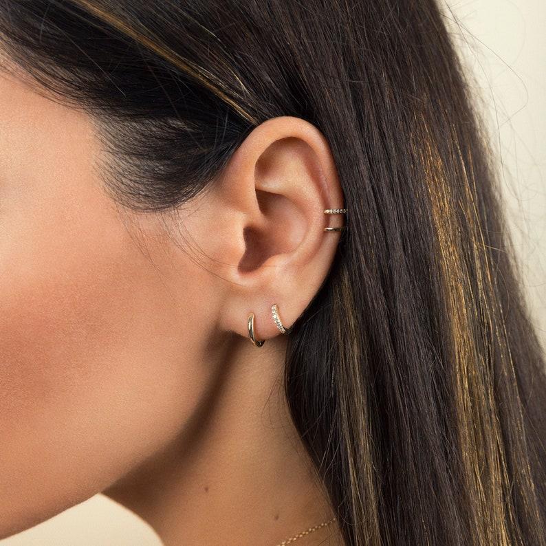 0e36aff84f46e Small hoop earrings - Huggie earrings - Gold hoop earrings - Tiny hoop  earrings - Tiny earrings - Mini hoop earrings - Dainty hoop earrings