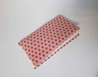 Door-checkbook Japanese asanoha fabric / checkbook