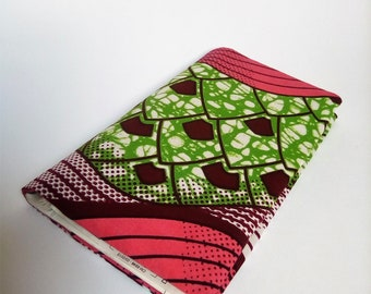 Colorful wax fabric checkbook cover