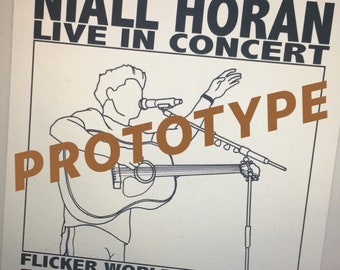 Niall Horan personalised tour date T-shirt