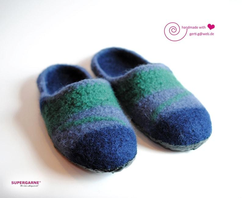 3f9ebdbcaba96 Gr.41 felt slippers men's colors, midnight blue, dove blue, super non-slip  and comfortable