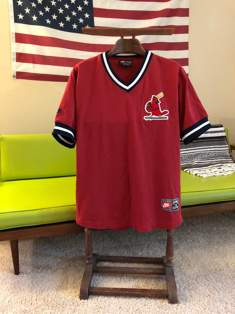 30863303b7fa Nike Cooperstown Collection St. Louis Cardinals Jersey Shirt