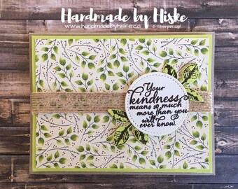 Thank You Card; Stampin' Up! Card; Handmade Card; Greeting Card; Thank You; Your Kindness Means So Much; Lemon Lime Twist; Painted Harvest