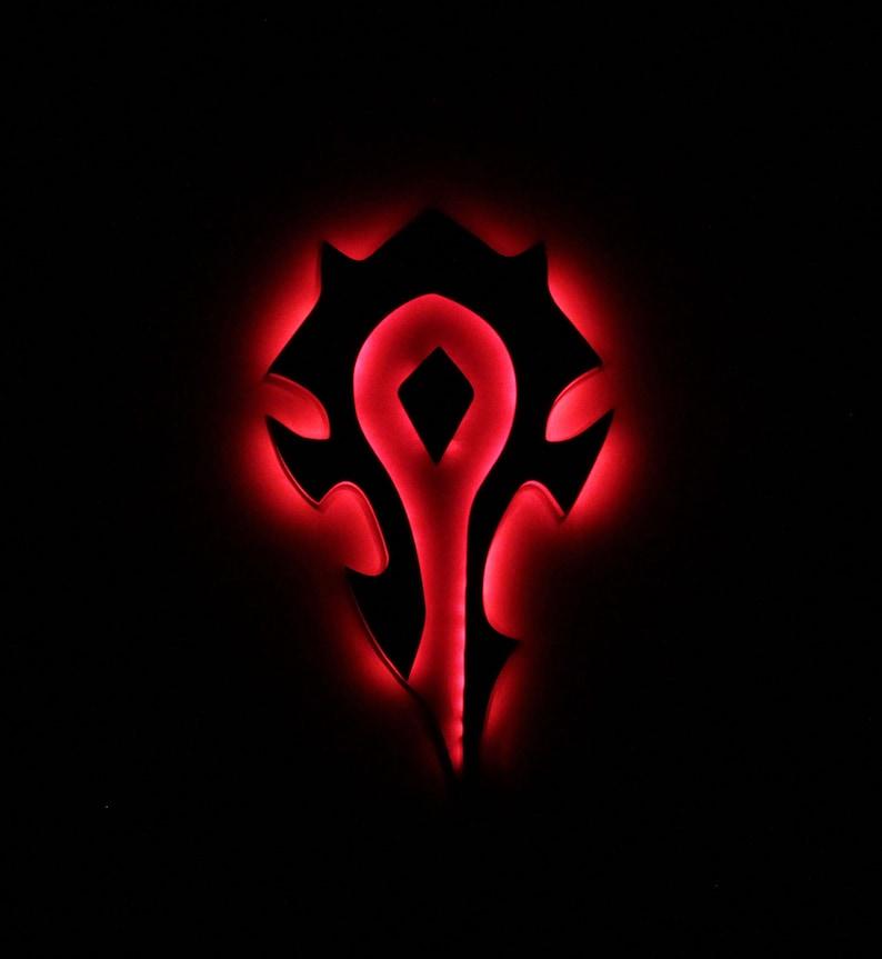 13. World of Warcraft Horde Night light