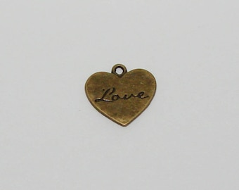 5 hearts love antique bronze - Ref: BB 230