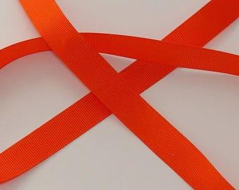 satin ribbon 3 m dark orange grosgrain 16mm wide