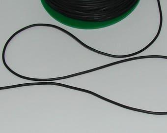 5 m hole diameter 2mm black rubber cord