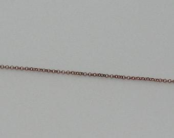 size 50cm rollo chain 2.5 mm copper