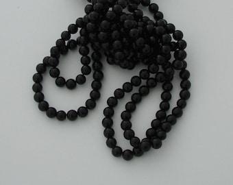 10 pearls 8mm black jade