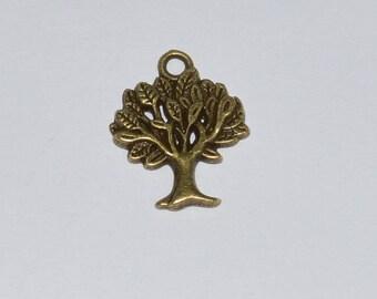 5 charm tree 22x17mm antique brass - Ref: BB 626