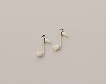 2 charms antique silver music note - Ref: BA 260