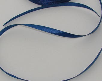 10 meters width 6mm dark blue satin ribbon