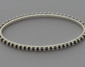 3 toothed 4,2cm x 23mm antiqued Silver Oval rings