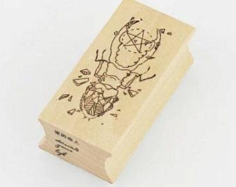 Geometric Beetle Bug Stamp
