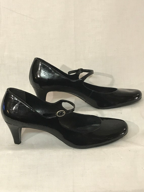 Nine West Heels Black Patent Leather