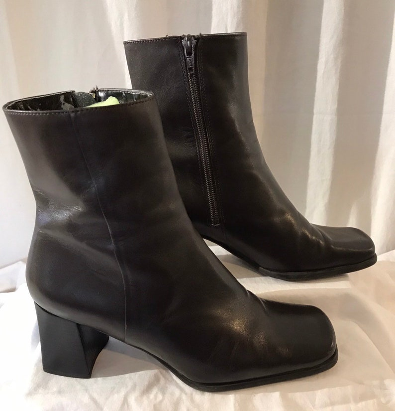 6083335dc602 Vintage Leather Boots Nine West Boots Brown Ankle Boots