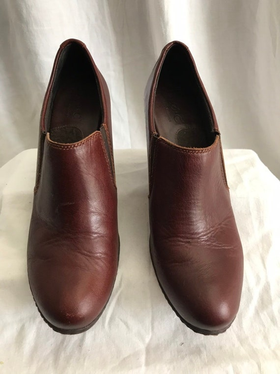 Vintage BOC Mules, Reddish Brown, Leather Mules, B