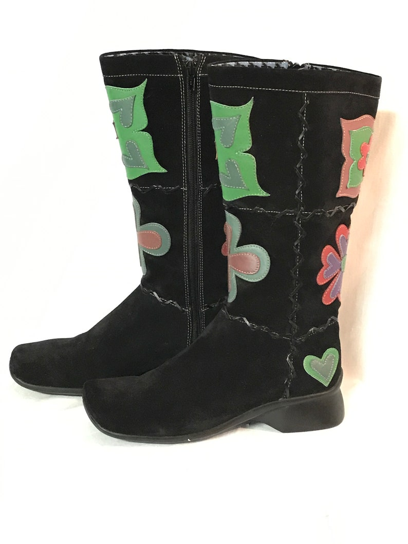 819633b43c Indigo Boots By Clarks Women's 7.5 M Boot Black Suede   Etsy
