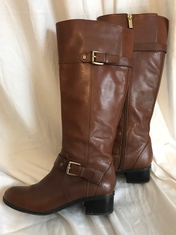 Bandolino Boots, Leather Boots, Brown Leather Boot