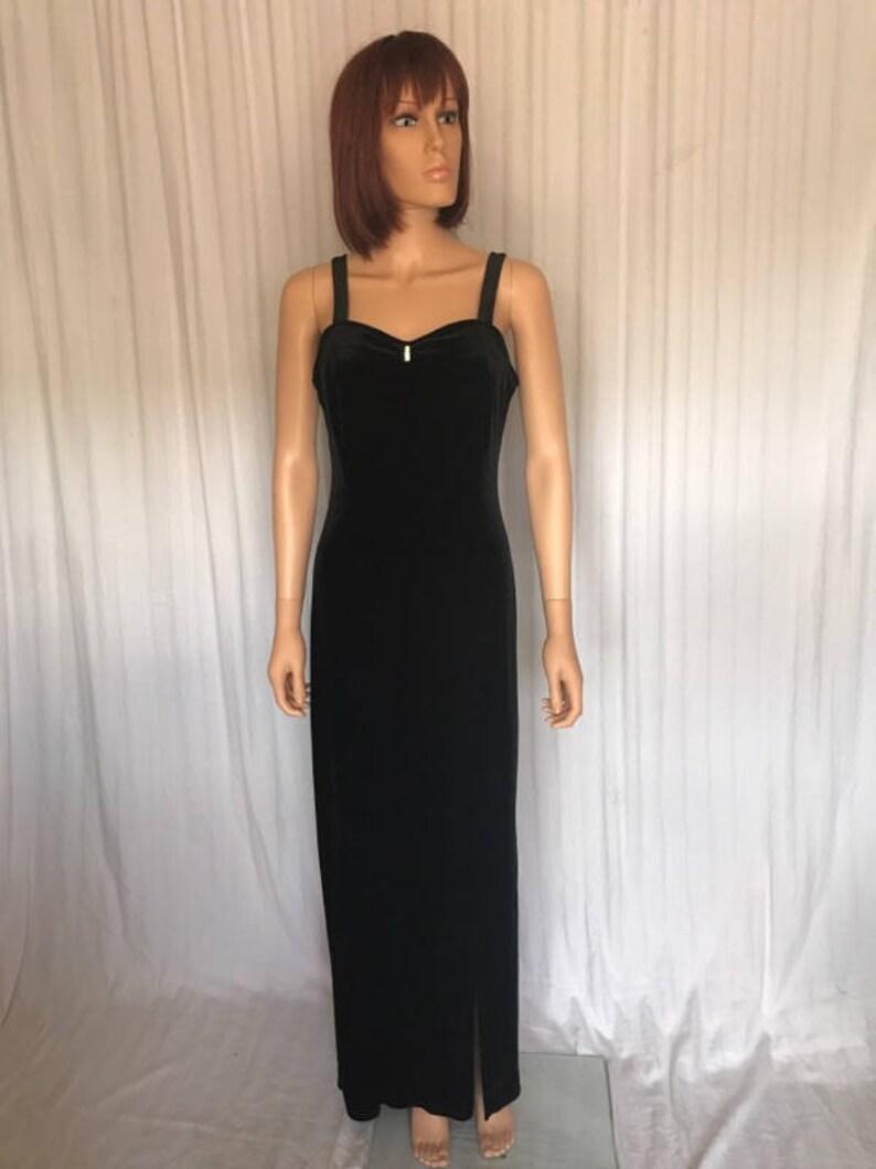 b499f595788 Long Dress Gown Onyx Nite By Wendye Chaitin Size 8 Fabulous