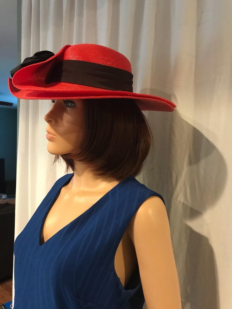 18499cf8 Red hat black band | Etsy