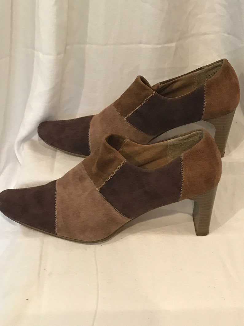 0fee668ff6ff Vintage Patchwork Shoes Brown Suede Shoes Vintage Suede